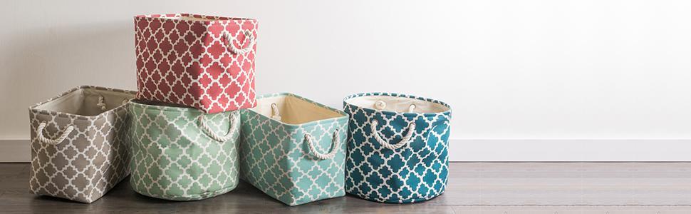 storage baskets, DII basket, baskets, basket for storage, dii collapsible polyester storage basket