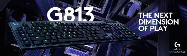Logitech G813 LIGHTSYNC RGB Mechanical Gaming Keyboard - Tactile