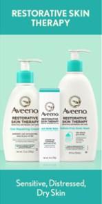 Aveeno Restorative Skin Therapy Moisturizing Oat Repairing Cream for Sensitive, Distressed, Dry Skin