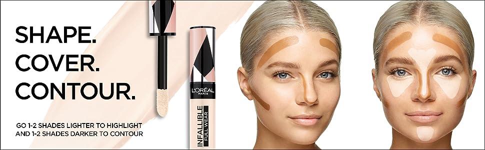 infallible concealer, shape tape dupe, loreal makeup, face makeup, loreal paris
