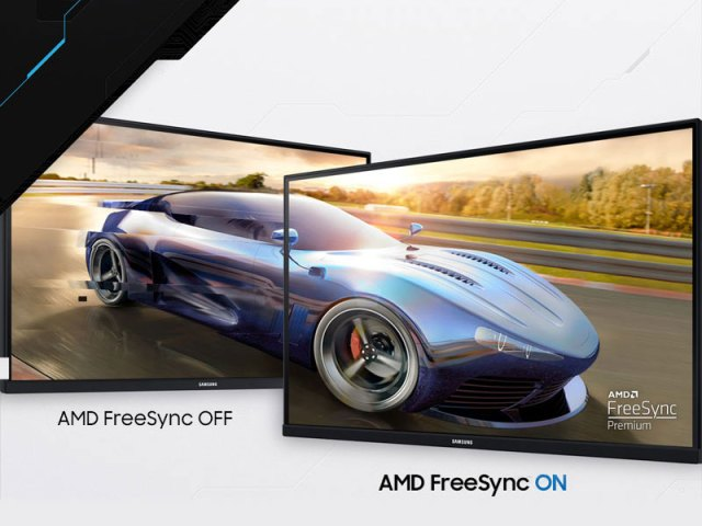 Side-by-side comparison of AMD FreeSync OFF vs. ON