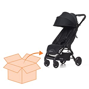 assembled stroller, one piece stroller, stroller, baby stroller, little stroller, airplane stroller