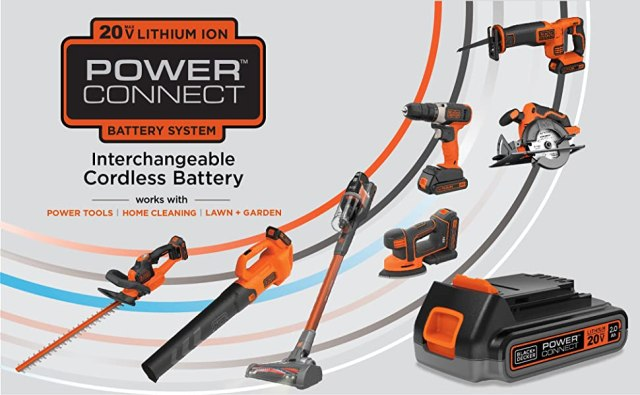 20V MAX* Lithium Ion Powerconnect Interchangeable Cordless Battery System