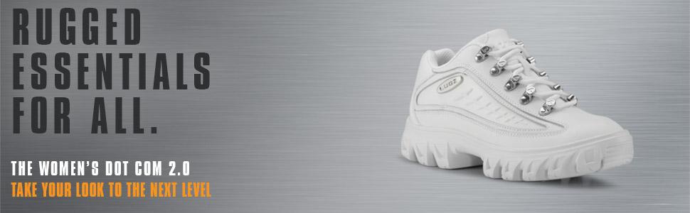 Lugz Women's Dot Com 2.0 Chunky Retro Leather Sneaker