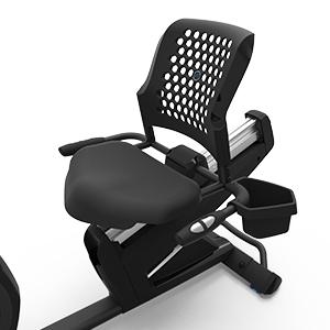 Nautilus R616 Recumbent Bike Adjustable Seat Comfort