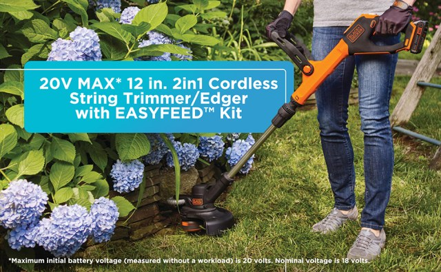 BLACK+DECKER 20V Max* Lithium Ion Cordless Easy Feed String Trimmer/Edger