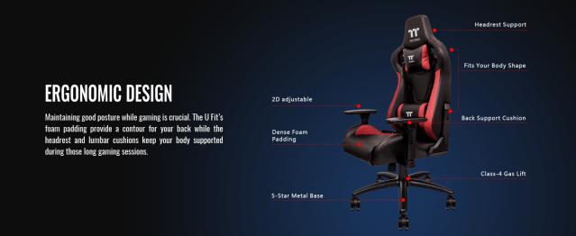 U Fit Black-Red Gaming Chair