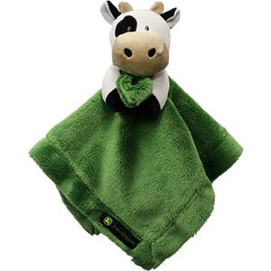 John Deere Cow Cuddle Blanket, Baby Blanket, Cuddle Toy, Cow