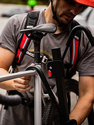 hitch mount bike rack, platform hitch rack, folding bike rack, Swagman hitch rack,