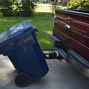 "great day tote caddy trash can transporter tc5000 for 2"" receiver"