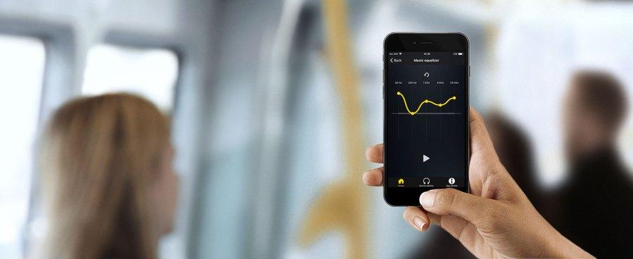 Personalize o som dos seus fones de ouvido com um equalizador personalizável no aplicativo Jabra Sound +.