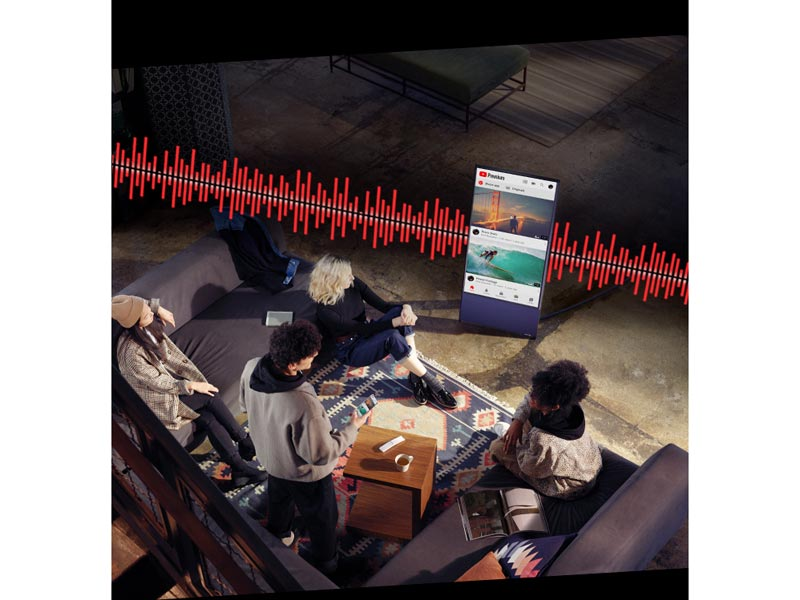 ctive Voice Amplifier analyzes the ambient noise in the room