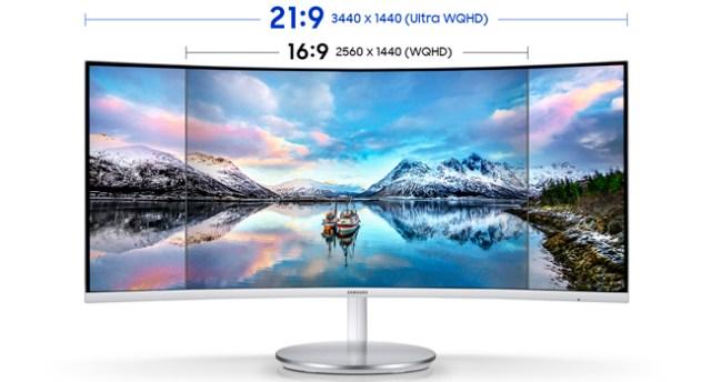 21:9 3440 x 1440 Ultra WQHD vs. 16:9 2560 x 1440 WQHD comparison