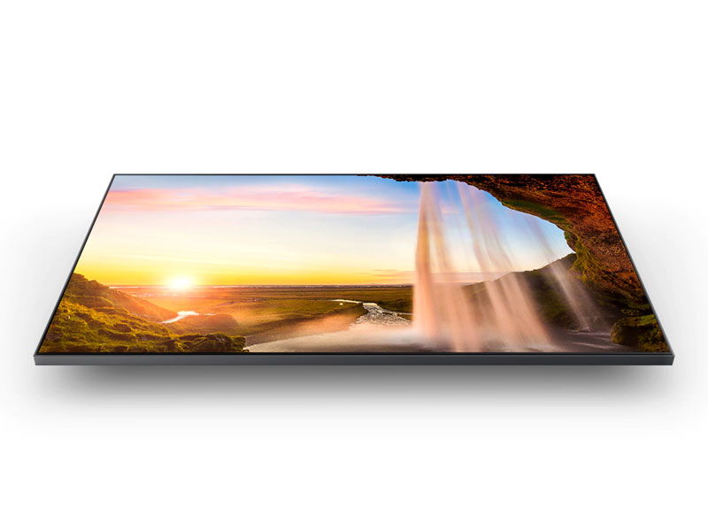 QLED TV with a colorful desert scene