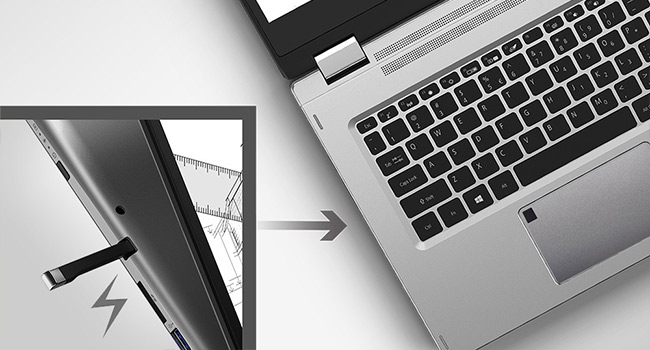 "Acer Spin 3 SP314-53N i7 Intel SSD 14"" Full HD Stylus laptop Backlit Fingerprint"