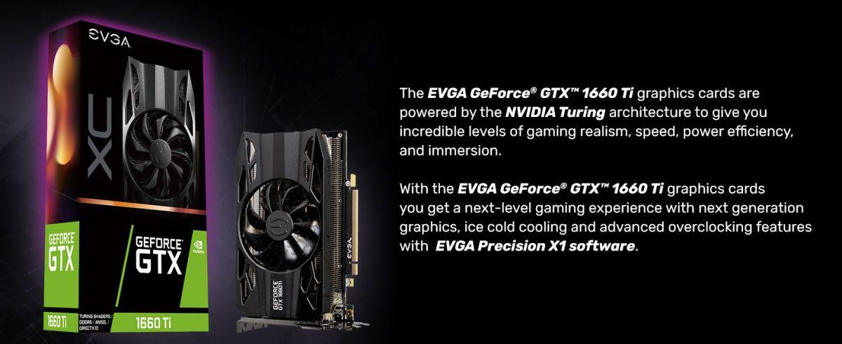 EVGA GeForce GTX 1660 Ti XC Gaming, 6GB GDDR6, HDB Fan Graphics Card