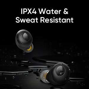 IPX4 Water & Sweat Resistant