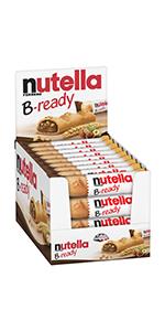 nutella, b-ready, bready, snack, bread, biscuit, spread, hazelnut