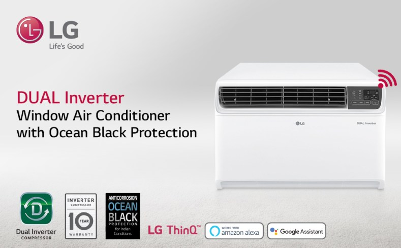 LG Dual Inverter Window AC with Ocean black Protection