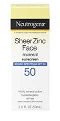 Neutrogena Sheer Zinc Face Dry Touch Lotion Sunscreen