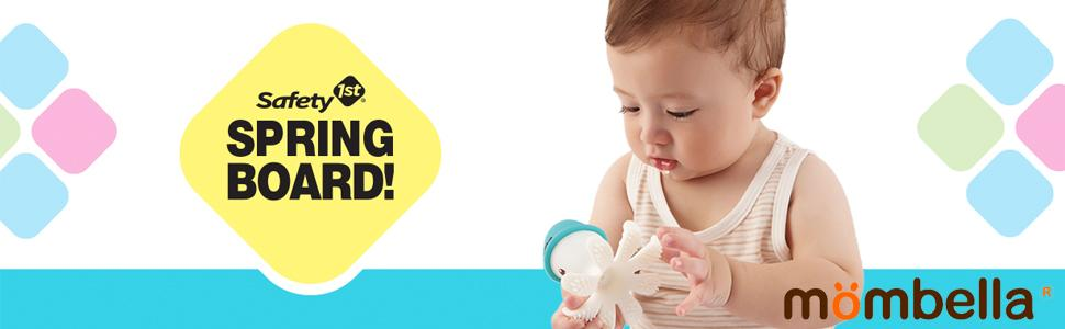 mombella by safety 1st silicone baby teethers divertido cores formas animais