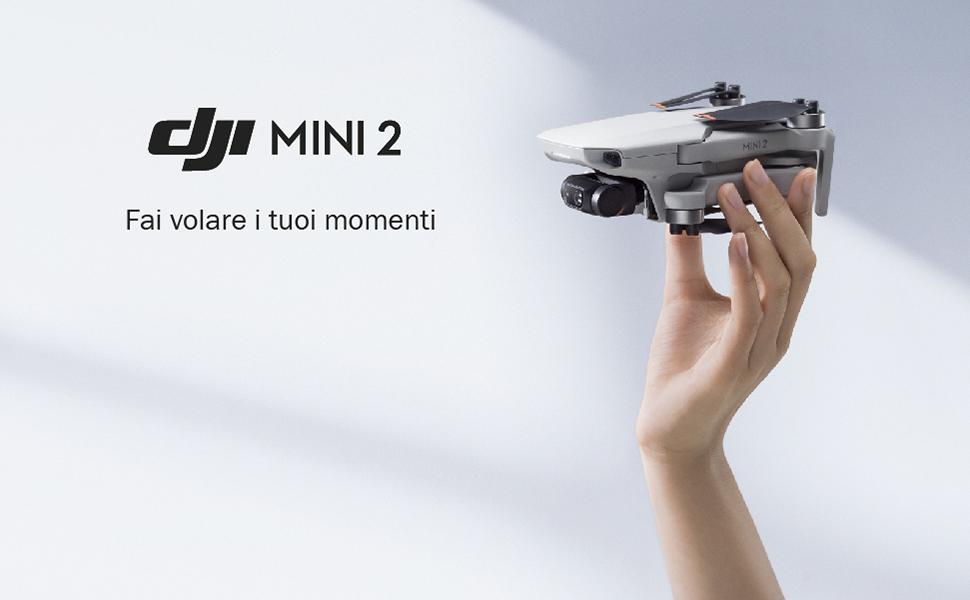 DJI Mini 2 Fly More Combo, Ultraleggero e Pieghevole Drone Quadcopter, 3 Assi Gimbal con Camera 4K, Foto 12MP, 3 Batterie, Stazione di Ricarica, OcuSync 2.0 HD Trasmissione Video, Mavic Mini, Fly App