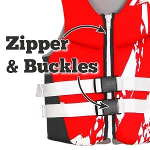 zipper & straps