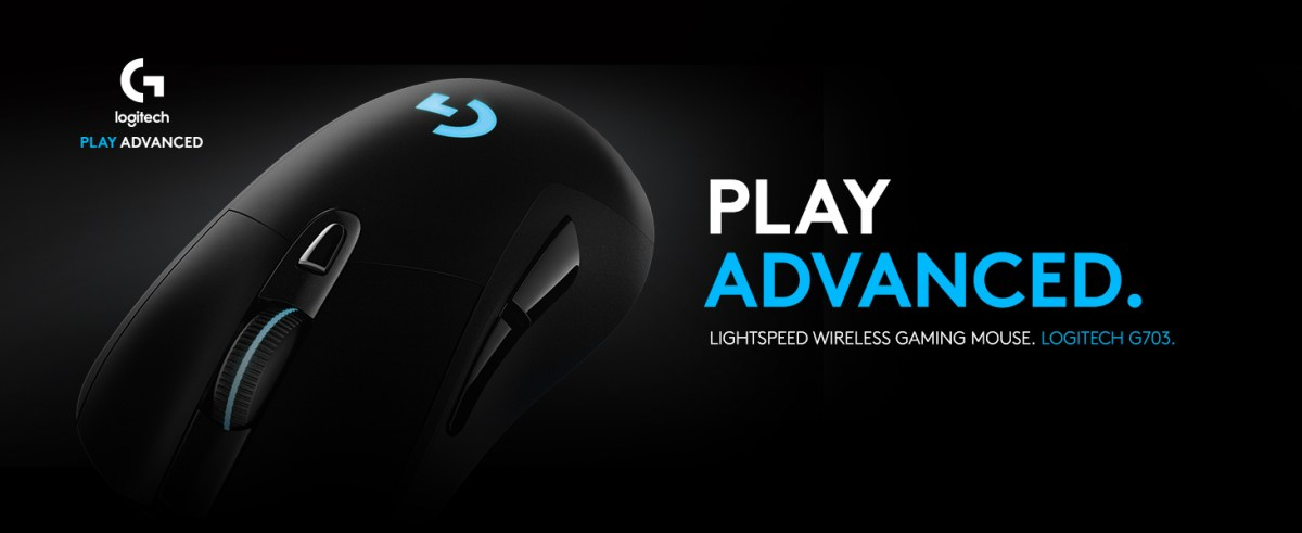 9e854e8d4f7 Logitech G703 Lightspeed Gaming Mouse with POWERPLAY Wireless ...