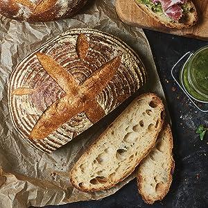 sourdough, pain au levain, bread, baking, cookbook, king arthur baking, flour, savory