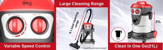 inalsa, vacuum cleaner, micro wd21, wet & dry vacuum cleaner