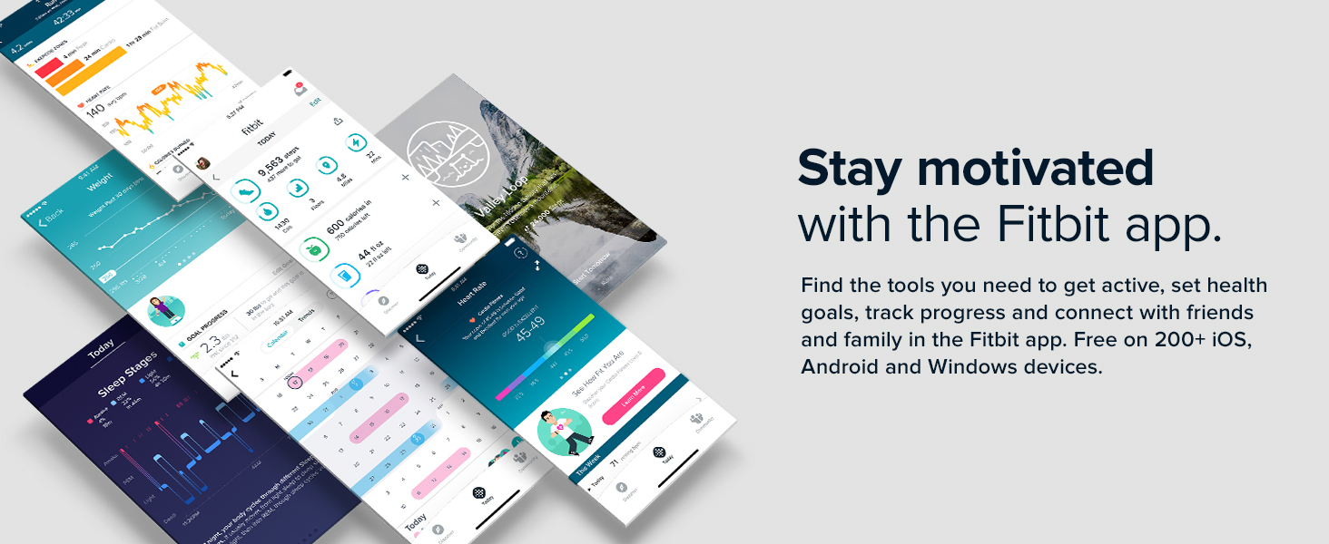 Stay motivated with the fitbit app