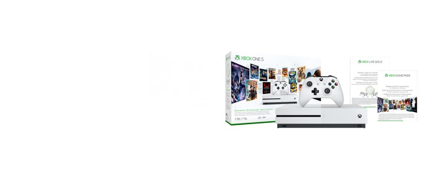 Consola Xbox One S 1 TB - Pacote inicial