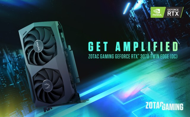 ZOTAC GAMING GeForce RTX 3070 Twin Edge OC Graphics Card ZT-A30700E-10P ZT-A30700H-10P NVIDIA Ampere