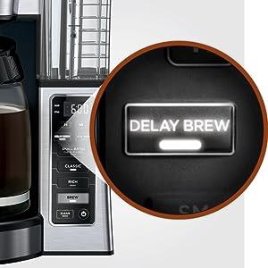 CE251, Ninja, Coffee, Brewer, Delay brew