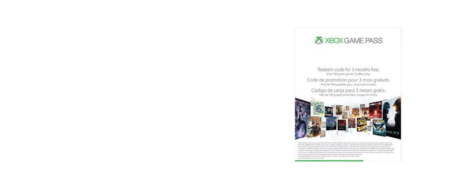 3 meses de Xbox Game Pass