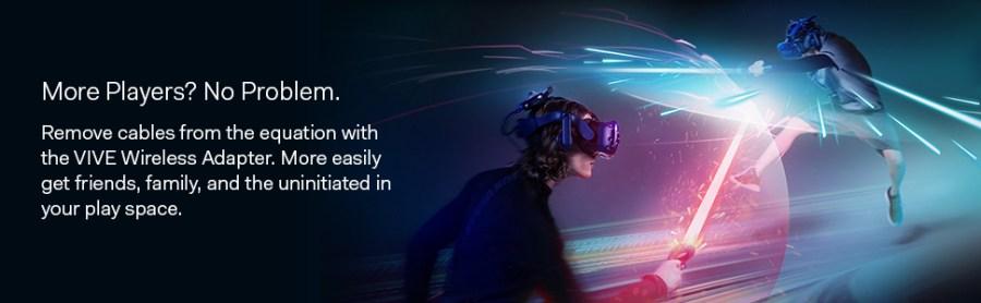 htc vive sem fio adaptador multiplayer realidade virtual