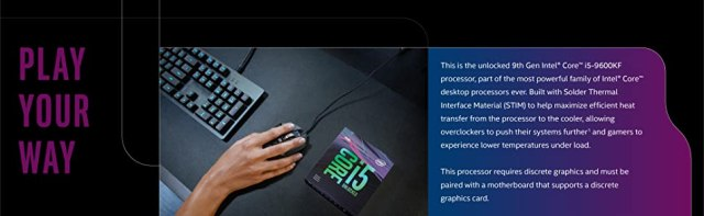 Intel Core i5-9600KF Desktop Processor