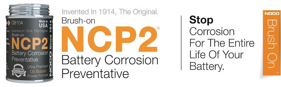 battery corrosion; stop battery corrosion; corrosion preventative; oil based brush-on
