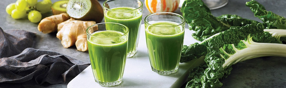 Healthy green juice with the Juice Fountain Cold by Breville