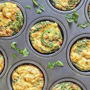 Salsa chicken egg muffins