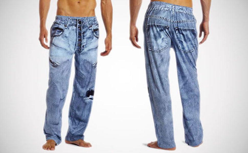 paul frank faux denim under disguise pajama pant