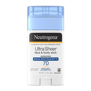 Neutrogena Ultra Sheer Dry-Touch Face and Body Sunscreen Stick with Broad Spectrum SPF 70