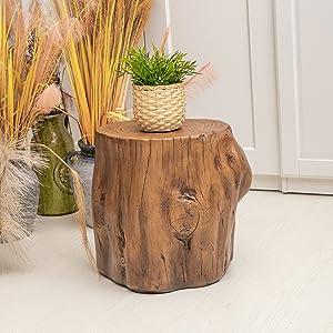 Faux wood Stump Stool