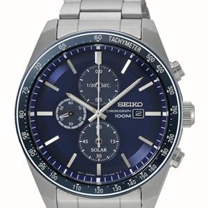 Solar Chronograph Herren Armbanduhr