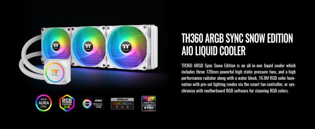 TH360 ARGB Sync Snow Edition AIO Liquid Cooler