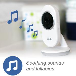 sons suaves e canções de ninar monitor de vídeo para bebês