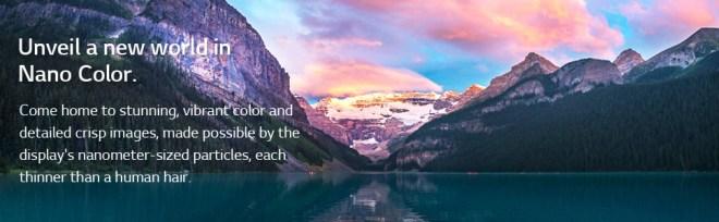 nanocell color tv