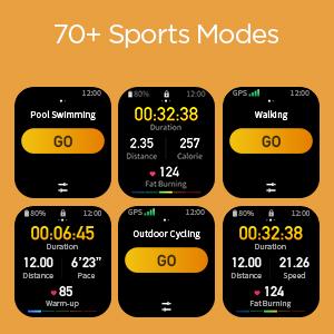 Más de 70 modos deportivos