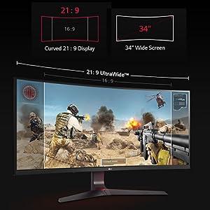 LG Ultra wide gaming monitor