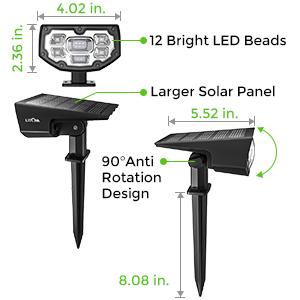 güneş enerjili peyzaj lambaları